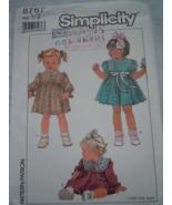 Simplicity  Toddler Size ½ Dress 1988 #8767 Uncut - $4.99
