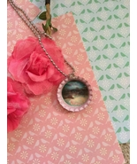 Pink Galaxy Bottle Cap Necklace - $3.60