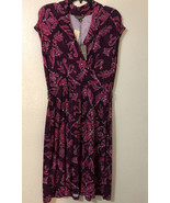 Tommy Bahama Indigo Floral Rumberry Cap Sleeve Faux Wrap  Dress M - Miss... - £20.89 GBP