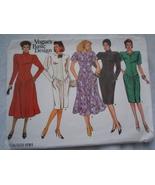 Vogue's Basic Design Misses 8 -12 Dress 1986  #1761  - $7.99