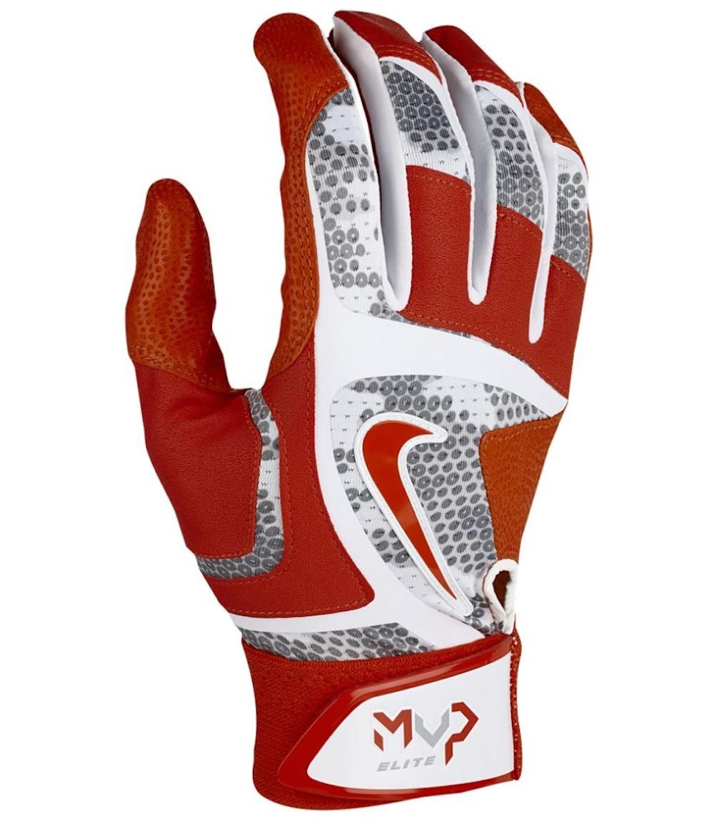 sports shoes 38f07 d63d0 57. 57. Previous. NIKE MVP Elite Baseball Batting Gloves sz S Small Red  White Grey Pro Vapor NEW