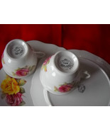 TWO (2) Royal Vale Cup and plate SETS- RED/YELLOW Roses -Bone china England - $29.99