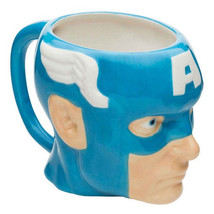 Marvel Comics Captain America Sculpted Face 18 oz Ceramic Coffee Mug, NE... - $9.74