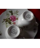 TWO (2) Royal Vale Cups and plates SETS-  Roses... - $17.99