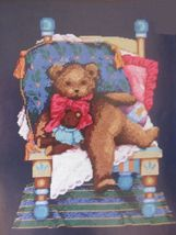 Counted Cross Stitch Design For the Needle Mr Teddy Bear Leisure Arts Ki... - $16.99