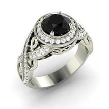 Black Moissanite Silver Engagement Ring - $179.99