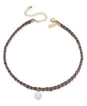Inc International Concepts Gold-Tone Faux-Suede Freshwater Pearl Choker ... - $31.87 CAD