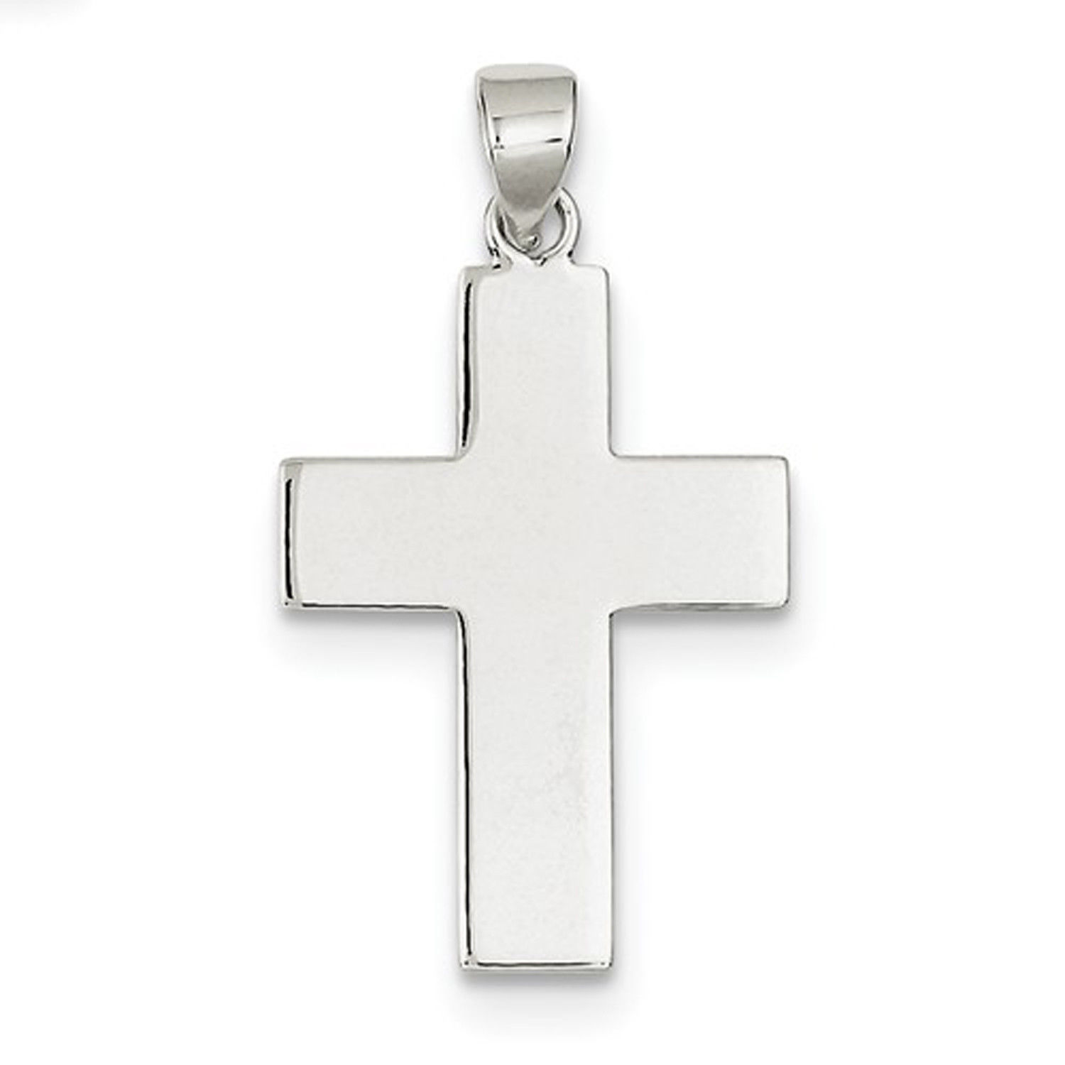 Primary image for Sterling Silver Polished The Lords Prayer Cross Pendant