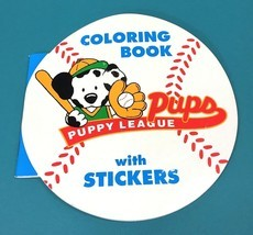 Vintage Sanrio All Star Puppy League Dalmatian Dog Coloring Book & Stick... - $24.95