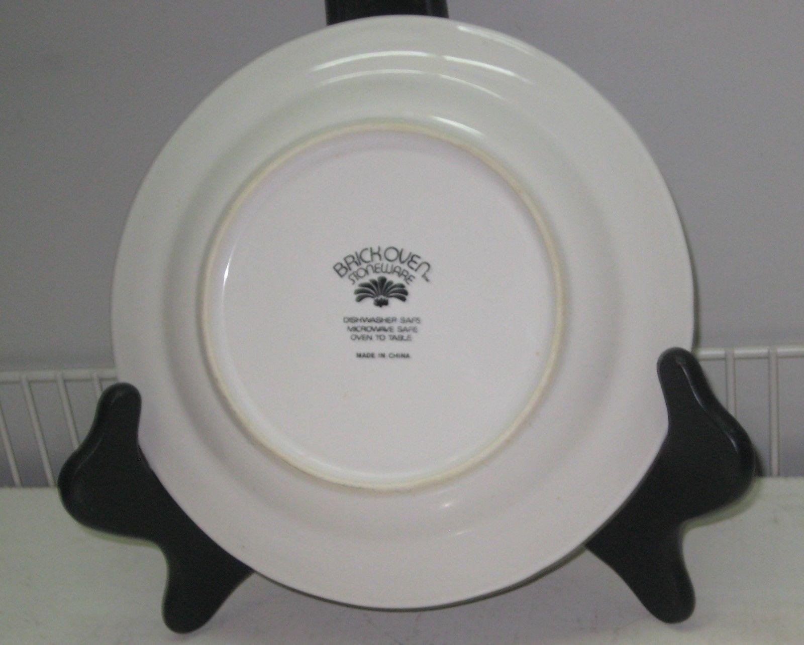 jardin bleu brick oven brickoven stoneware salad plate 7 3