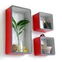 Trista - [Flourishing City] Rectangle Leather Wall Shelf / Bookshelf / F... - $111.57