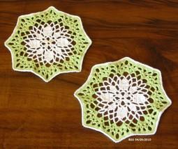 Coaster white flower in lt grren pair 2811 rect 72dpi thumb200