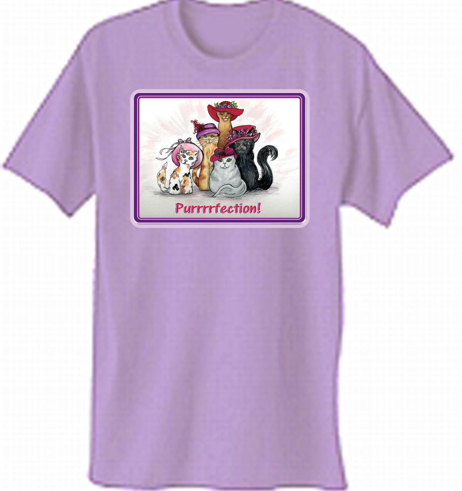 Lavender T Shirt Custom Kitty Cat Design For And Similar Items