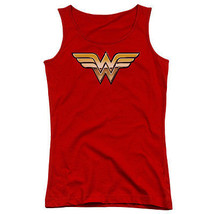 Wonder Woman Golden Logo Juniors Tank Top New Dc Comics Licensed Jla156 Jtk - $21.99+