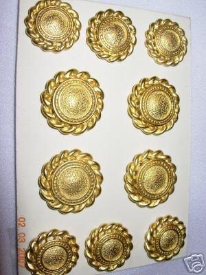 BLAZER BUTTON CAST DULL GOLD FINISHED 30/36 11 PC SET Bonanza