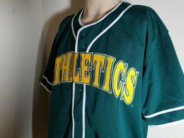 Oakland Athletics A's Jersey MLB Vintage Green Team Baseball Size XL image 5