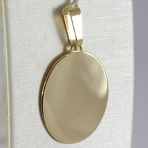 18K YELLOW GOLD OVAL, PHOTO & TEXT ENGRAVED PERSONALIZED PENDANT 25 MM, MEDAL image 1