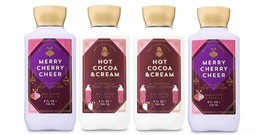 Bath & Body Works Hot Cocoa Cream & Merry CherryCheer Body Lotion - 4 Pack - $24.99
