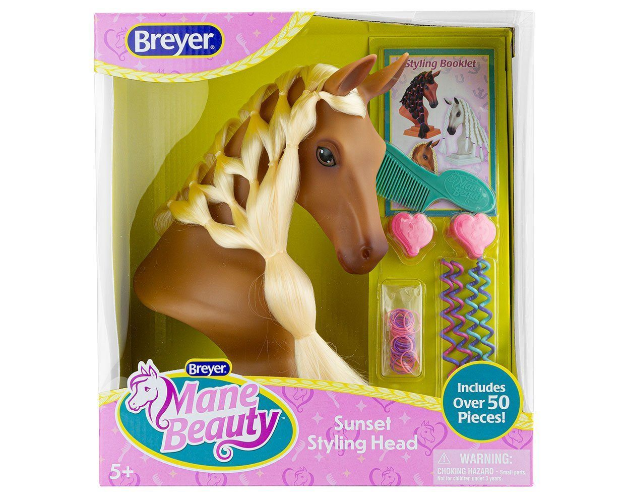 Breyer Sunset Mane Beauty Styling Head Palomino 7402