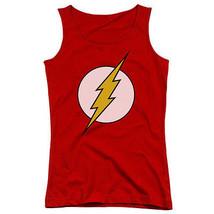 The Flash Classic Logo Red Juniors Tank Top New Dc Comics Licensed Dco263 Jtk - $21.99+