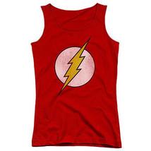The Flash Distressed Logo Red Juniors Tank Top New Dc Comics Licensed Dco137 Jtk - $21.99+