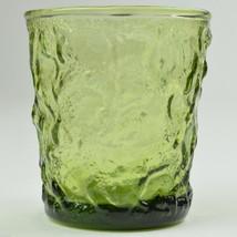 Anchor Hocking Milano Lido Green Pattern On The Rocks Glass Glassware Ta... - $4.99