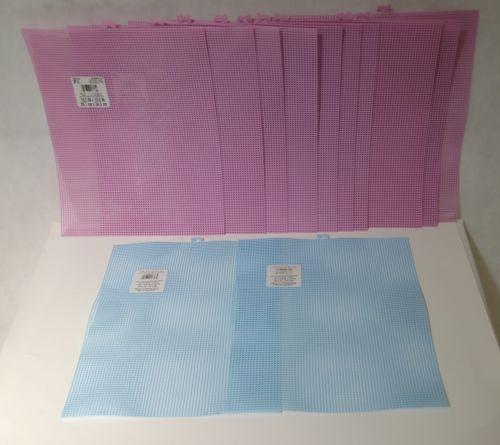 Darice 3390014 Lavender Blue Plastic Canvas 7 Count Mesh 10 X 13 Inches 12 Piece