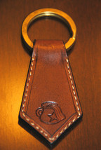 Aquarius Zodiac Leather Keychain - Handmade in USA - $16.83
