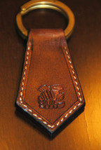 Scorpio Zodiac Leather Keychain - Handmade in USA - $16.83