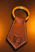 Capricorn Zodiac Leather Keychain - Handmade in... - $16.83