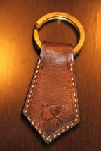 Sagittarius Zodiac Leather Keychain - Handmade ... - $16.83