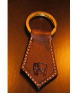 Taurus Zodiac Leather Keychain - Handmade in USA - $16.83