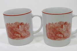 Pair of Dansk International Designs Threshing Wheat Harvest Mugs EUC - $18.69