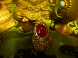 HAUNTED KING DJINN RING OF ABILITIES LARGE AMBER RING SIZE7.5 - $79.99