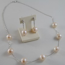 .925 SILVER RHODIUM NECKLACE WITH FRESHWATER WHITE PEARLS, 17.72 IN LENGHT image 3