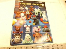 Carefree Creatures to Crochet pattern book by Leisure Arts c 1984 - using eggs - - $5.99