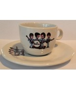 THE BEATLES cartoon LOVE LOVE ME DO espresso COFFEE CUP AND SAUCER - $19.00
