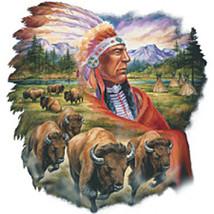 Chief & Buffalo Cross Stitch Pattern***L@@K*** - $2.95