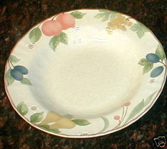 "Mikasa Fruit Panorama 10 1/2"" rimmed Round Serving Bowl DC014 - $14.80"