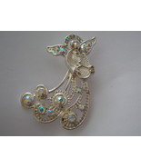 Angel Pin With AB Stones. Silver Tone  Angelic Pin. - $10.00