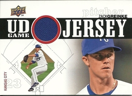 2010 Upper Deck UD Game Jersey Zack Greinke UDGJ-ZG Royals - $4.00