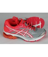 Asics gel flux 4 womens running shoes silver metallic orange size 6 - $41.48+