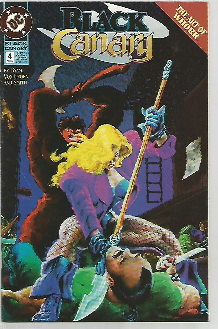 Black Canary #4 DC COMICS 1993 Painted Cover - $5.50