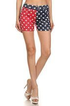 ICONOFLASH Women's USA American Flag Jegging Shorts (Star Spangled Short... - $22.76