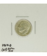 1964-D  United States Roosevelt Dime 90% Silver Rating : (XF) Extremely ... - $1.56 CAD