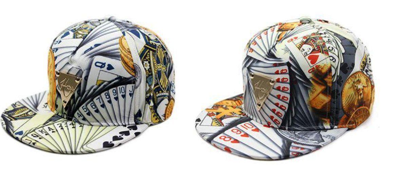 Fashion Korean Poker Hip Hop Hat for Men and Women - One Hat