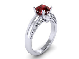 Platinum Skull Engagement Ring Temple of the An... - $2,195.00