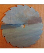 Mini Round Beach Seascape No 1 Sawblade Fridge ... - $18.75