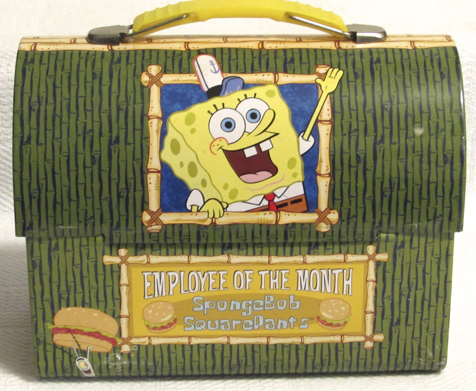 SpongeBob SquarePants Employee of the Month Metal Dome Lunch Box/Tin Box 2001