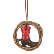 Cowboy Boot in Rope Ornament - $12.95